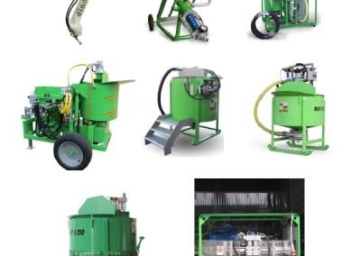 Máquinas Injecção calda cimento e grouting