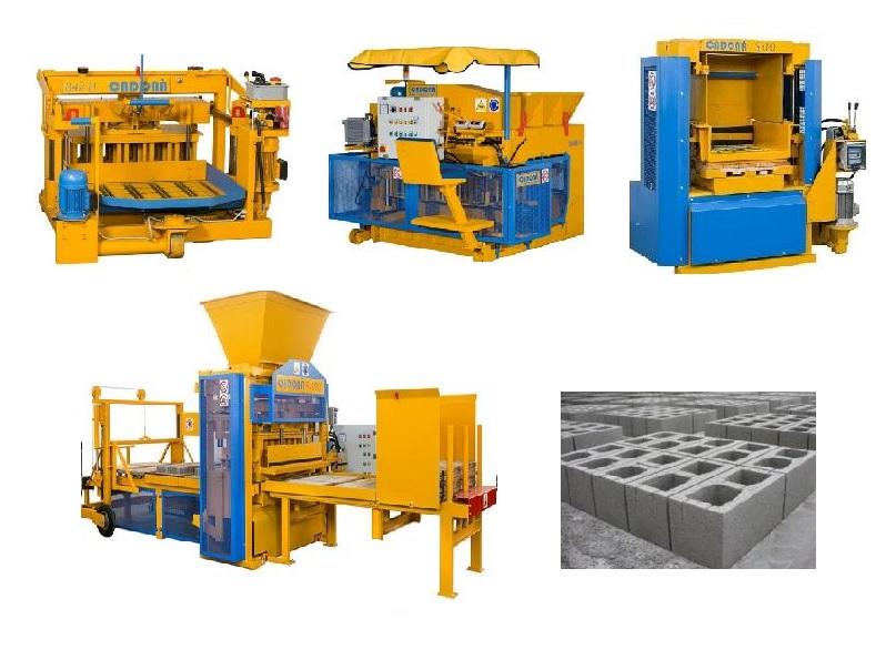 Máquinas fabrico de blocos